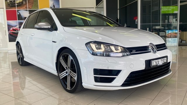 Used Volkswagen Golf VII MY17 R DSG 4MOTION Cardiff, 2017 Volkswagen Golf VII MY17 R DSG 4MOTION White 6 Speed Sports Automatic Dual Clutch Hatchback