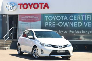 2013 Toyota Corolla ZRE182R Ascent Sport S-CVT Glacier White 7 Speed Constant Variable Hatchback.