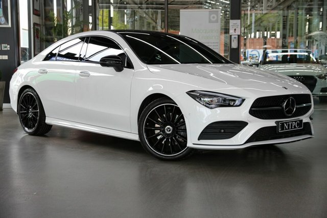 Used Mercedes-Benz CLA-Class C118 800+050MY CLA200 DCT North Melbourne, 2020 Mercedes-Benz CLA-Class C118 800+050MY CLA200 DCT White 7 Speed Sports Automatic Dual Clutch