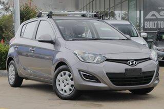 2013 Hyundai i20 PB MY13 Active Silver 4 Speed Automatic Hatchback.