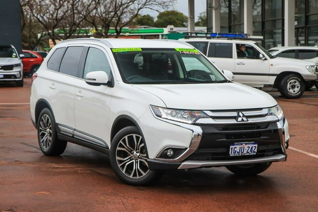 Used Mitsubishi Outlander ZK MY17 LS 4WD Attadale, 2017 Mitsubishi Outlander ZK MY17 LS 4WD White 6 Speed Constant Variable Wagon