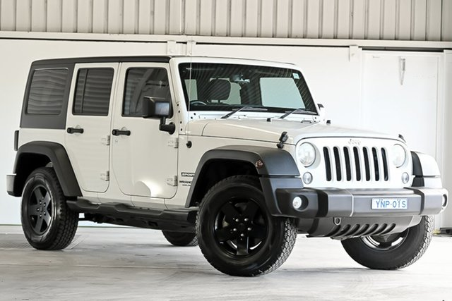 Used Jeep Wrangler JK MY2016 Unlimited Sport Laverton North, 2016 Jeep Wrangler JK MY2016 Unlimited Sport White 6 Speed Manual Softtop