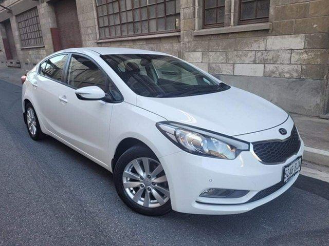 Used Kia Cerato YD MY15 S Premium Cheltenham, 2015 Kia Cerato YD MY15 S Premium White4/grey 6 Speed Sports Automatic Sedan