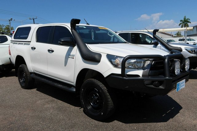 Used Toyota Hilux GUN126R SR Double Cab Winnellie, 2021 Toyota Hilux GUN126R SR Double Cab White 6 Speed Sports Automatic Utility