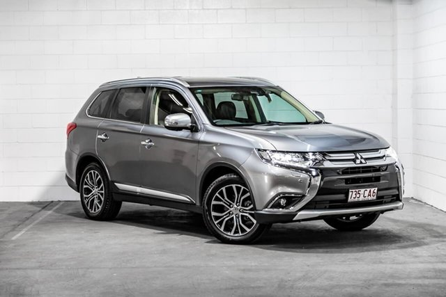 Used Mitsubishi Outlander ZK MY17 Exceed 4WD Southport, 2017 Mitsubishi Outlander ZK MY17 Exceed 4WD Grey 6 Speed Constant Variable Wagon