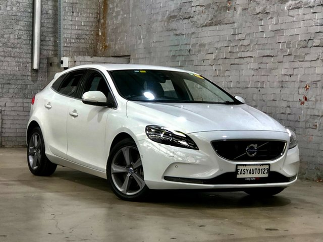 Used Volvo V40 M Series MY16 T4 Adap Geartronic Luxury Mile End South, 2015 Volvo V40 M Series MY16 T4 Adap Geartronic Luxury White 6 Speed Sports Automatic Hatchback