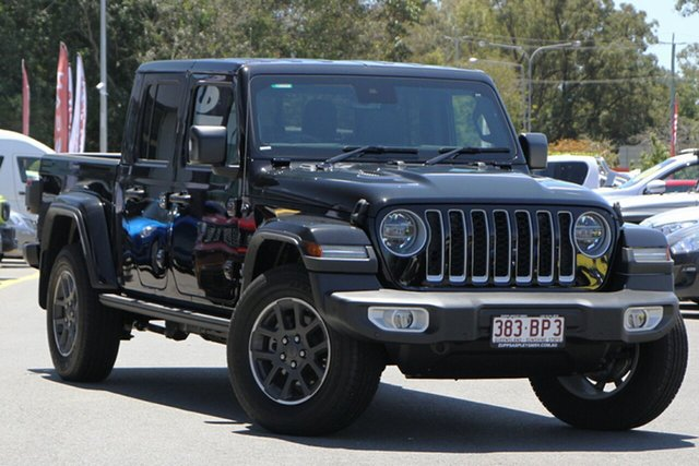 Used Jeep Gladiator JT MY21 Overland Pick-up Aspley, 2020 Jeep Gladiator JT MY21 Overland Pick-up Gloss Black 8 Speed Automatic Utility