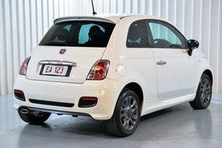 2014 Fiat 500 Series 3 S Dualogic White 5 Speed Sports Automatic Single Clutch Hatchback