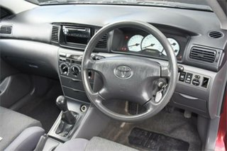 2005 Toyota Corolla ZZE122R 5Y Ascent Burgundy 5 Speed Manual Sedan