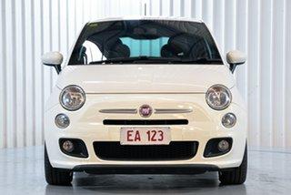 2014 Fiat 500 Series 3 S Dualogic White 5 Speed Sports Automatic Single Clutch Hatchback.
