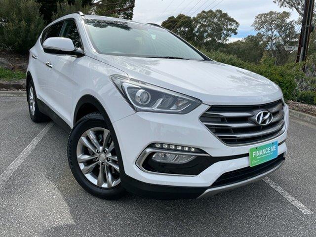 Used Hyundai Santa Fe DM2 MY15 Elite Totness, 2015 Hyundai Santa Fe DM2 MY15 Elite Creamy White 6 Speed Sports Automatic Wagon