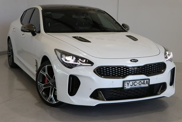 Used Kia Stinger CK MY19 GT Fastback Wagga Wagga, 2018 Kia Stinger CK MY19 GT Fastback White 8 Speed Sports Automatic Sedan