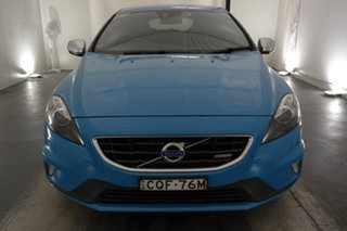 2013 Volvo V40 M Series MY13 T5 Adap Geartronic R-Design Blue 6 Speed Sports Automatic Hatchback.