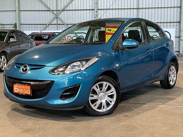 Used Mazda 2 DE10Y2 MY12 Maxx Rocklea, 2012 Mazda 2 DE10Y2 MY12 Maxx Blue 4 Speed Automatic Hatchback