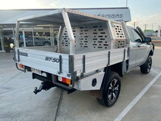 2012 Mazda BT-50 UP0YF1 XT Freestyle Silver 6 Speed Manual Cab Chassis.