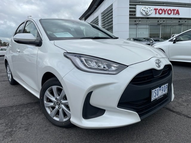Pre-Owned Toyota Yaris Mxpa10R SX South Morang, 2020 Toyota Yaris Mxpa10R SX Crystal Pearl 1 Speed Constant Variable Hatchback