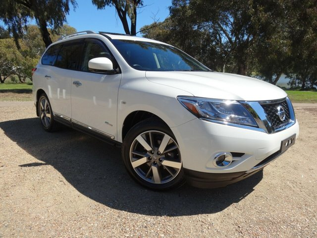 Used Nissan Pathfinder R52 MY15 Ti X-tronic 4WD Morphett Vale, 2014 Nissan Pathfinder R52 MY15 Ti X-tronic 4WD Ivory Pearl 1 Speed Constant Variable Wagon Hybrid