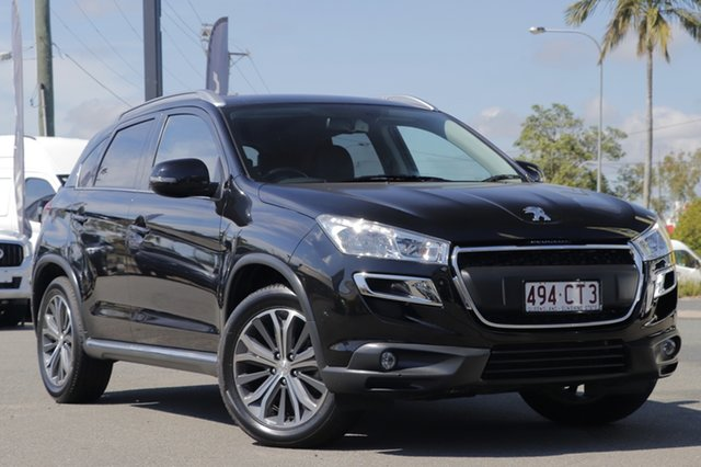 Used Peugeot 4008 MY15 Active 2WD Rocklea, 2015 Peugeot 4008 MY15 Active 2WD Black Pearl 6 Speed Constant Variable Wagon