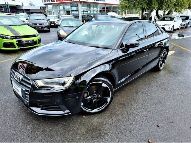 Used Audi A3 8V MY16 Attraction S Tronic Seaford, 2016 Audi A3 8V MY16 Attraction S Tronic Black 7 Speed Sports Automatic Dual Clutch Sedan