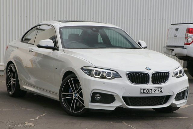 Used BMW 2 Series F22 230i M Sport Wollongong, 2017 BMW 2 Series F22 230i M Sport White 8 Speed Sports Automatic Coupe