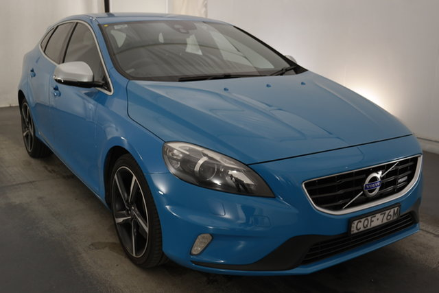 Used Volvo V40 M Series MY13 T5 Adap Geartronic R-Design Maryville, 2013 Volvo V40 M Series MY13 T5 Adap Geartronic R-Design Blue 6 Speed Sports Automatic Hatchback