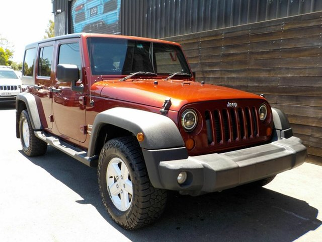 Used Jeep Wrangler JK MY2008 Unlimited Sport Labrador, 2008 Jeep Wrangler JK MY2008 Unlimited Sport Red 5 Speed Automatic Softtop