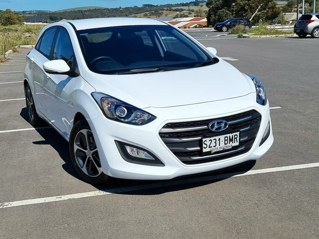 Used Hyundai i30 GD3 Series II MY16 Active X Victor Harbor, 2015 Hyundai i30 GD3 Series II MY16 Active X White 6 Speed Sports Automatic Hatchback