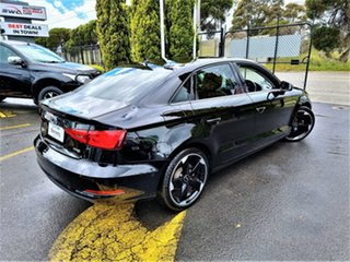 2016 Audi A3 8V MY16 Attraction S Tronic Black 7 Speed Sports Automatic Dual Clutch Sedan.