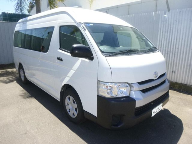 Used Toyota HiAce TRH223R Commuter High Roof Super LWB St Marys, 2016 Toyota HiAce TRH223R Commuter High Roof Super LWB White 6 Speed Automatic Bus