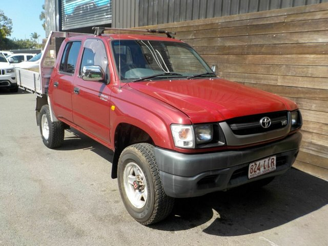 Used Toyota Hilux VZN167R MY04 Labrador, 2004 Toyota Hilux VZN167R MY04 Red 4 Speed Automatic Utility