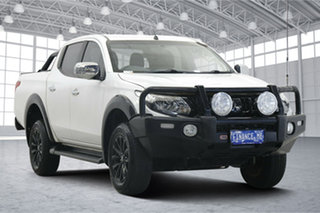 2017 Mitsubishi Triton MQ MY17 GLS Double Cab Sports Edition White 6 Speed Manual Utility.