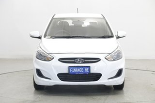 2017 Hyundai Accent RB4 MY17 Active Crystal White 6 Speed Constant Variable Hatchback.