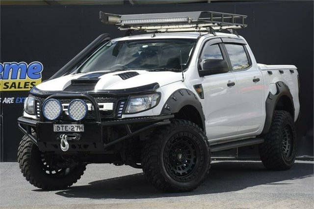 Used Ford Ranger PX XL Campbelltown, 2012 Ford Ranger PX XL White 6 Speed Sports Automatic Cab Chassis