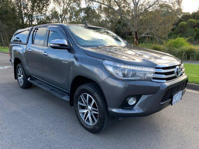 Used Toyota Hilux GUN126R SR5 Geelong, 2017 Toyota Hilux GUN126R SR5 Grey Sports Automatic Utility