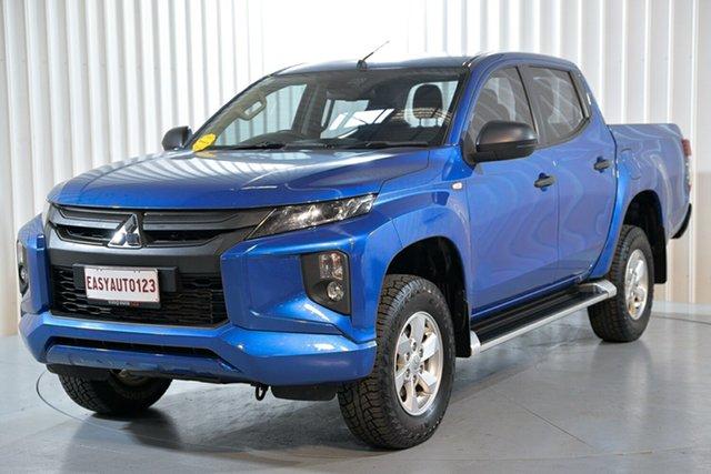 Used Mitsubishi Triton MR MY19 GLX Double Cab Hendra, 2018 Mitsubishi Triton MR MY19 GLX Double Cab Blue 6 Speed Sports Automatic Utility