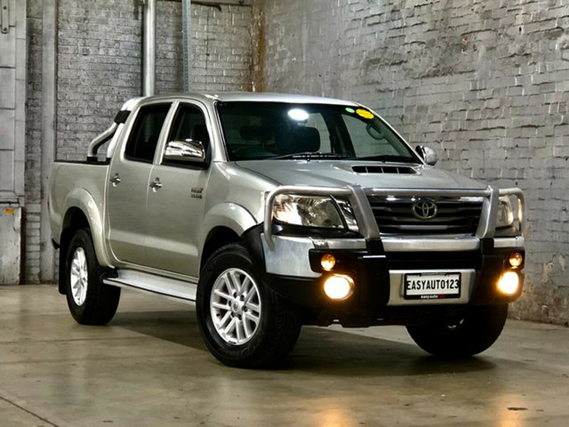 Used Toyota Hilux KUN26R MY12 SR5 Double Cab Mile End South, 2013 Toyota Hilux KUN26R MY12 SR5 Double Cab Silver 4 Speed Automatic Utility