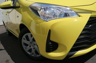 2017 Toyota Yaris NCP130R Ascent Yellow 4 Speed Automatic Hatchback.