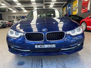 2016 BMW 3 Series F30 LCI 318i Sport Line Blue Sports Automatic Sedan.