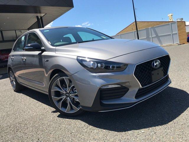 New Hyundai i30 PD.V4 MY21 N Line D-CT Gladstone, 2021 Hyundai i30 PD.V4 MY21 N Line D-CT Grey 7 Speed Sports Automatic Dual Clutch Hatchback