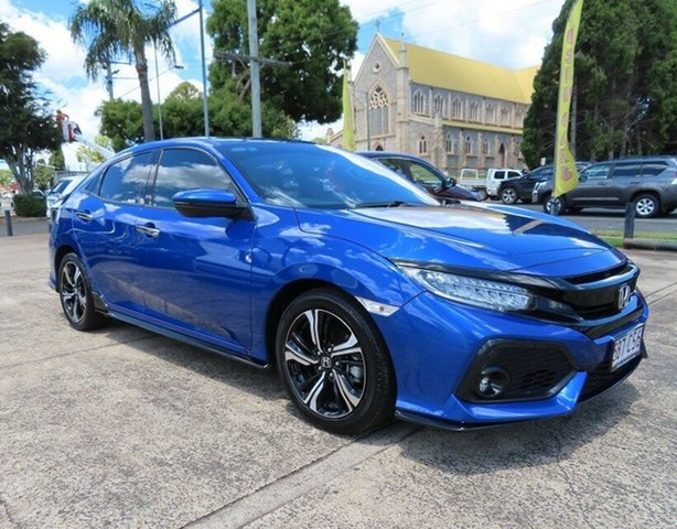 Used Honda Civic MY17 RS Toowoomba, 2017 Honda Civic MY17 RS Brilliant Sporty Blue Continuous Variable Hatchback