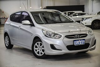 2011 Hyundai Accent RB Active Silver 5 Speed Manual Hatchback.