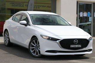 2021 Mazda 3 BP2SLA G25 SKYACTIV-Drive Evolve Snowflake White Pearl 6 Speed Sports Automatic Sedan.