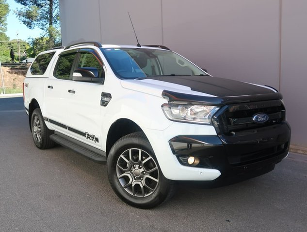 Used Ford Ranger PX MkII FX4 Double Cab Reynella, 2017 Ford Ranger PX MkII FX4 Double Cab White 6 Speed Sports Automatic Utility