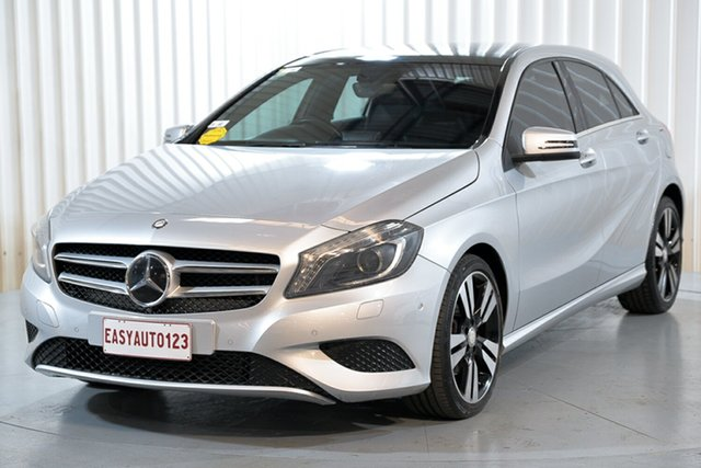 Used Mercedes-Benz A200 176 BE Hendra, 2013 Mercedes-Benz A200 176 BE Silver 7 Speed Automatic Hatchback