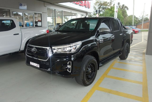 Used Toyota Hilux GUN126R SR5 Double Cab East Maitland, 2019 Toyota Hilux GUN126R SR5 Double Cab Black 6 Speed Sports Automatic Utility