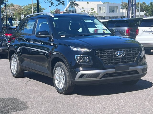 New Hyundai Venue Qx.v4 MY22 Nailsworth, 2021 Hyundai Venue Qx.v4 MY22 Phantom Black 6 Speed Automatic Wagon