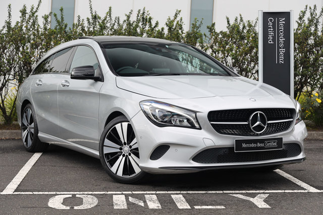 Certified Pre-Owned Mercedes-Benz CLA-Class X117 807MY CLA200 Shooting Brake DCT Mulgrave, 2016 Mercedes-Benz CLA-Class X117 807MY CLA200 Shooting Brake DCT Polar Silver 7 Speed