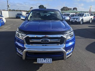 2015 Ford Ranger PX MkII XLT Double Cab Blue 6 Speed Sports Automatic Utility.