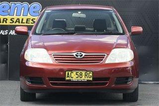 2005 Toyota Corolla ZZE122R 5Y Ascent Burgundy 5 Speed Manual Sedan.