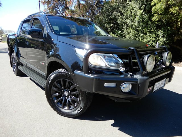 Used Holden Colorado RG MY18 Z71 Pickup Crew Cab Glenelg, 2017 Holden Colorado RG MY18 Z71 Pickup Crew Cab Black/Grey 6 Speed Sports Automatic Utility